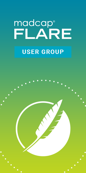 MadCap Flare User Group Banner 300 by 600