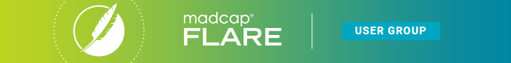 MadCap Flare User Group Banner 728 by 90