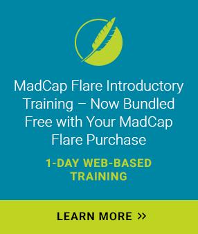 MadCap Flare Introductory Training