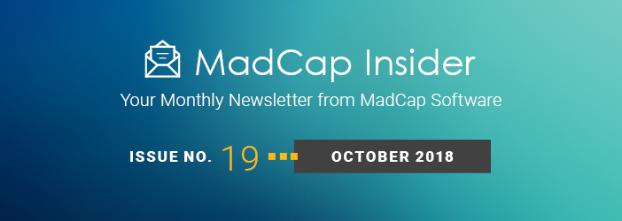 MadCap Insider, Issue No. 19, October 2018