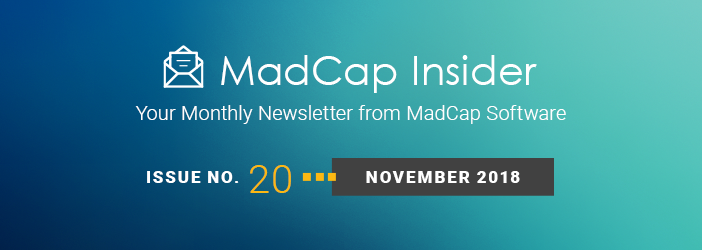 MadCap Insider, Issue No. 20, November 2018
