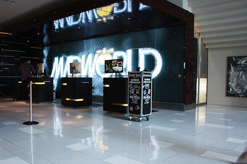 Madworld registration desk