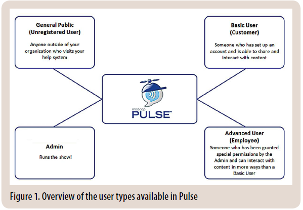 Figure 1. Overview of the User Types Available in Pulse