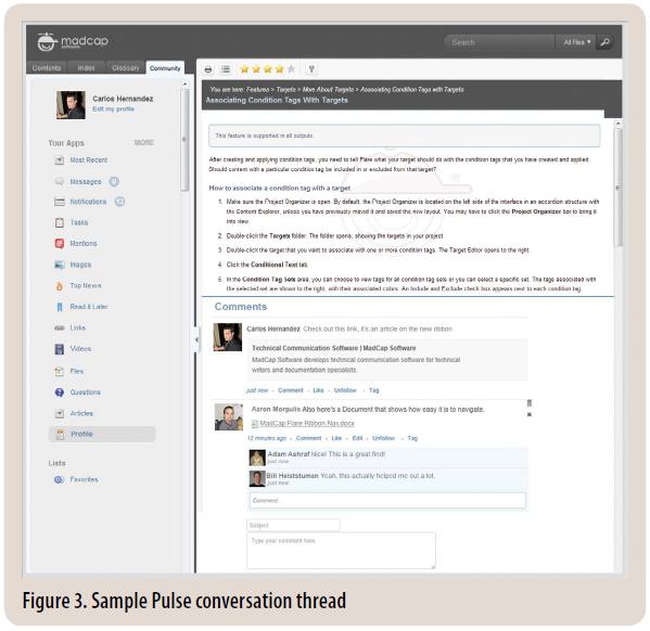 Figure 3. Sample Pulse conversation thread