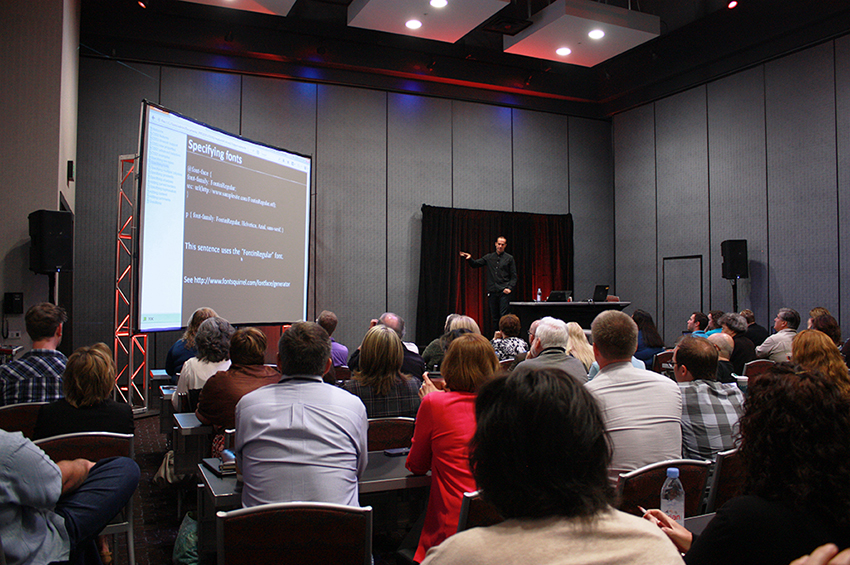 Photo of presentation at MadWorld 2014