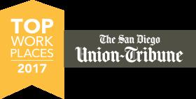 San Diego UT Top Workplaces 2017 Award