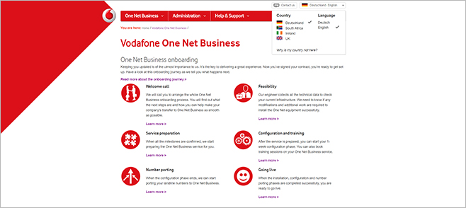 Vodafone One Net Business Overview topic