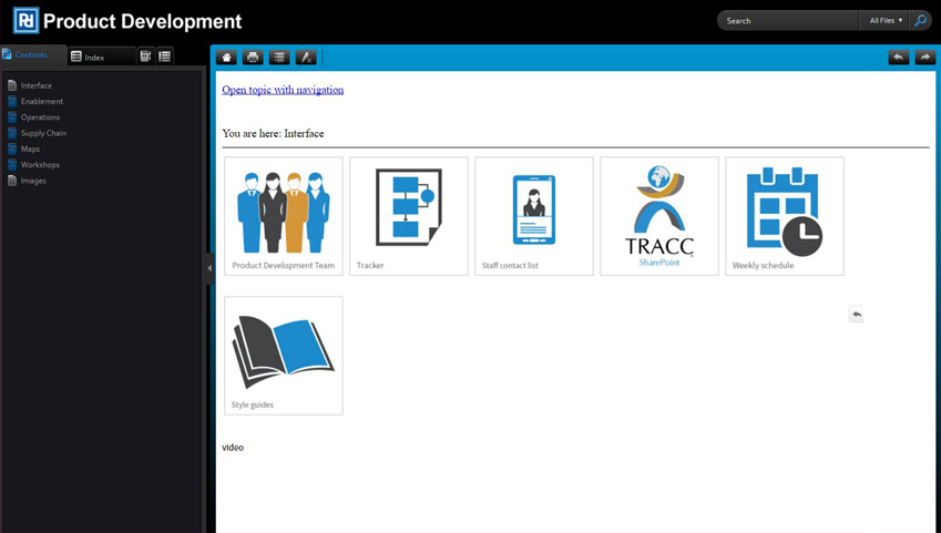 CCi Employee Help System Interface Screen