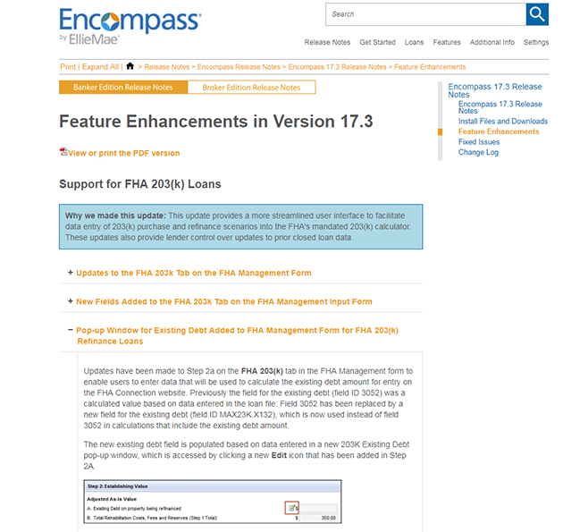 Encompass Release Notes