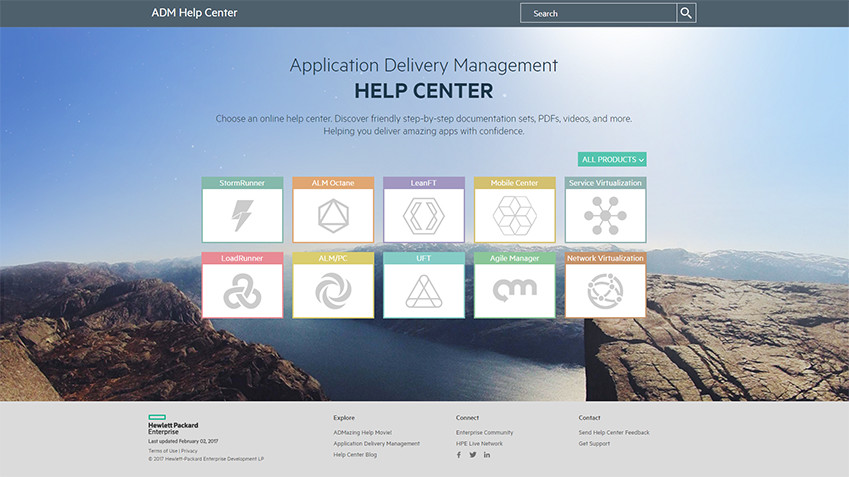 Screenshot of the ADM Help Center
