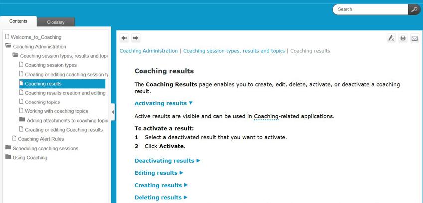 Screenshot of sample Verint Help topic