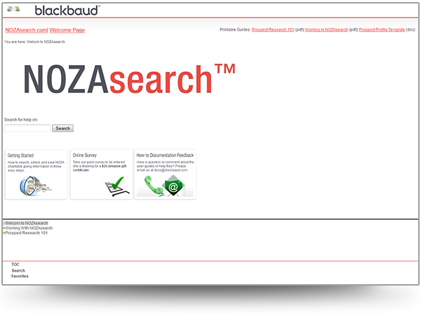 NOZAsearch ® WebHelp