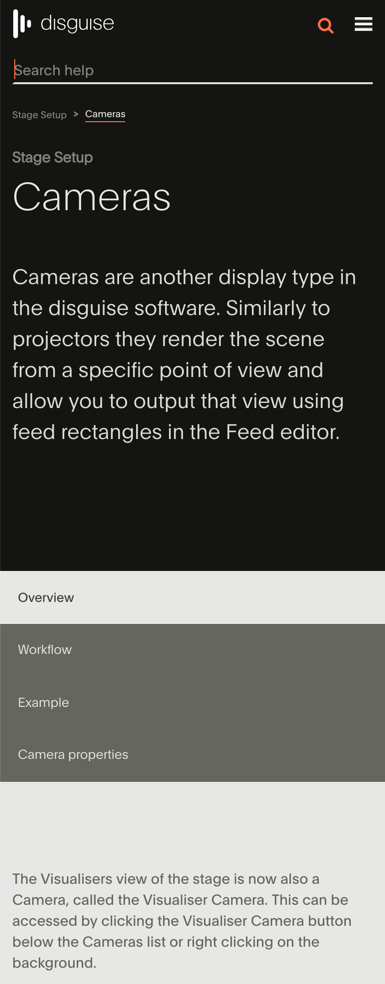 Screenshot of Topic Page in Mobile Output with Quick Search Functionality