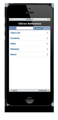 Ektron's Mobile WebHelp
