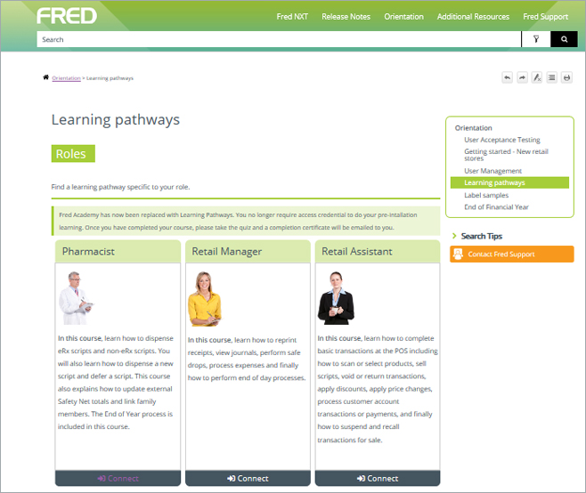 Fred IT learning pathways Screenshot