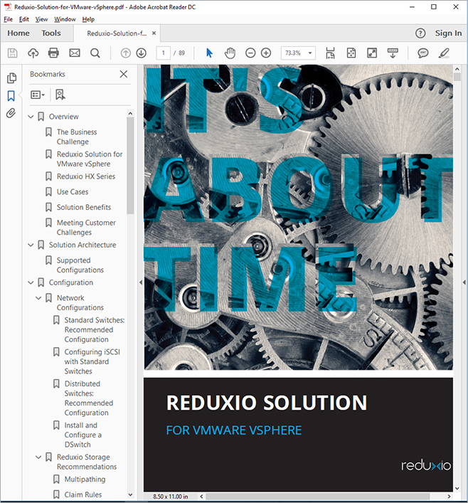 Photo of Cover Page and TOC of PDF Output, Created with MadCap Flare