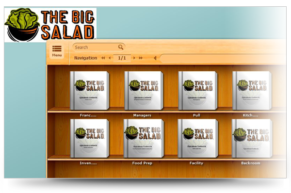 Screenshot of The Big Salad Bookcase