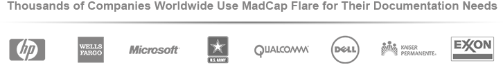 Logos of Companies Using MadCap Software Products