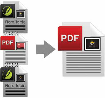 Illustration showing multiple PDFs stitched together