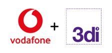 Vodafone and 3di logos
