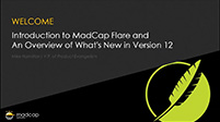 An Overview of MadCap Flare + What's New in Version 12
