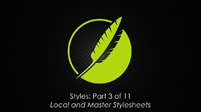 Styles: Part 3 of 10 Local and Master Stylesheets