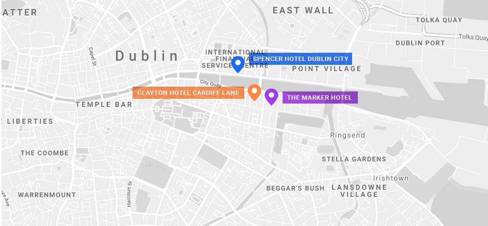Dublin Hotel Map