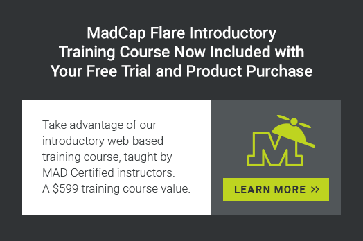 MadCap Flare Introductory Training Course