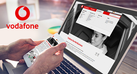 Vodafone  One Net Business Help website
