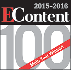 EContent 2015-2016 100 Award, Multi-Year Winner