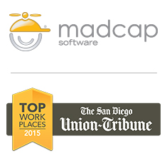 MadCap Software and Union-Tribune logos