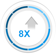 icon showing increased production speed