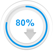icon showing reduced project time