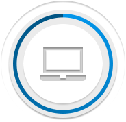 icon showing streamlined content delivery