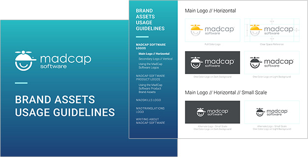 Brand Guidelines cover and inner page