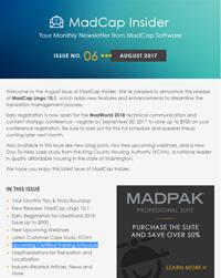 August 2017 MadCap Insider